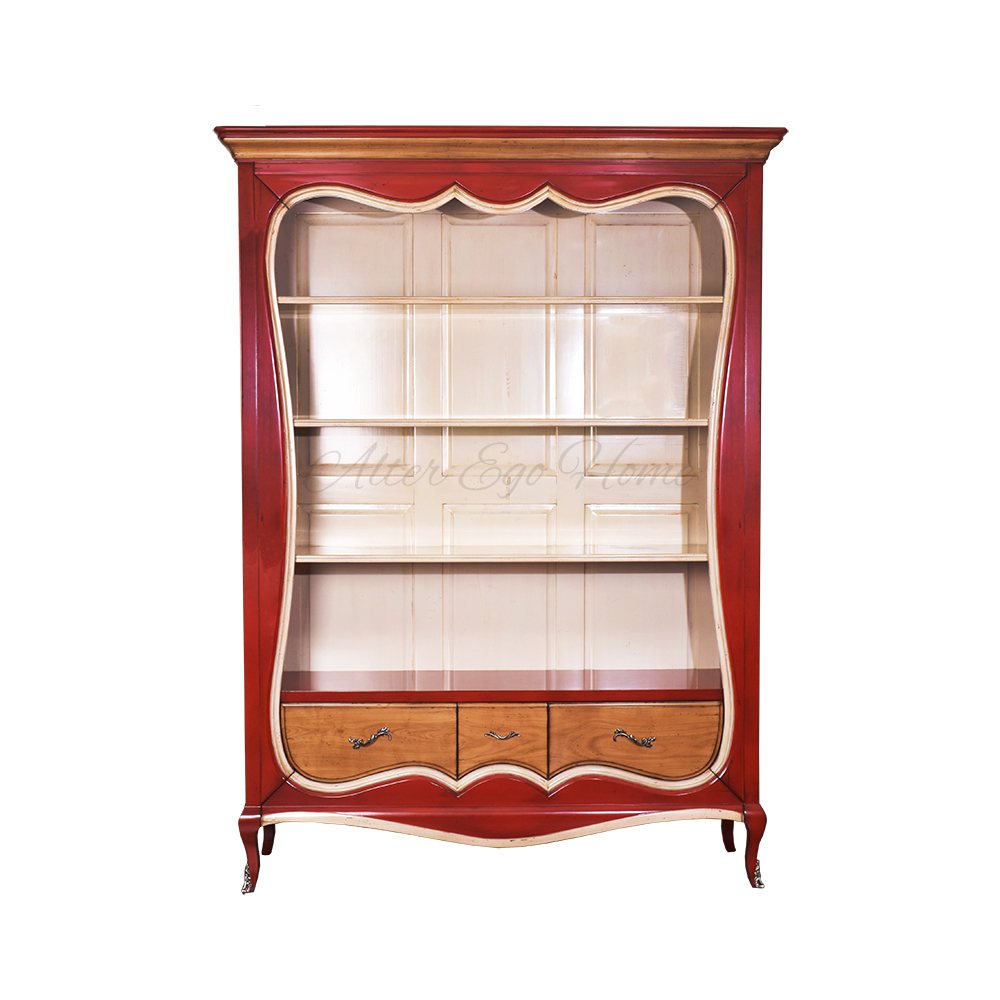 Купить открытый книжный шкаф из вишни в интернет-магазине al.