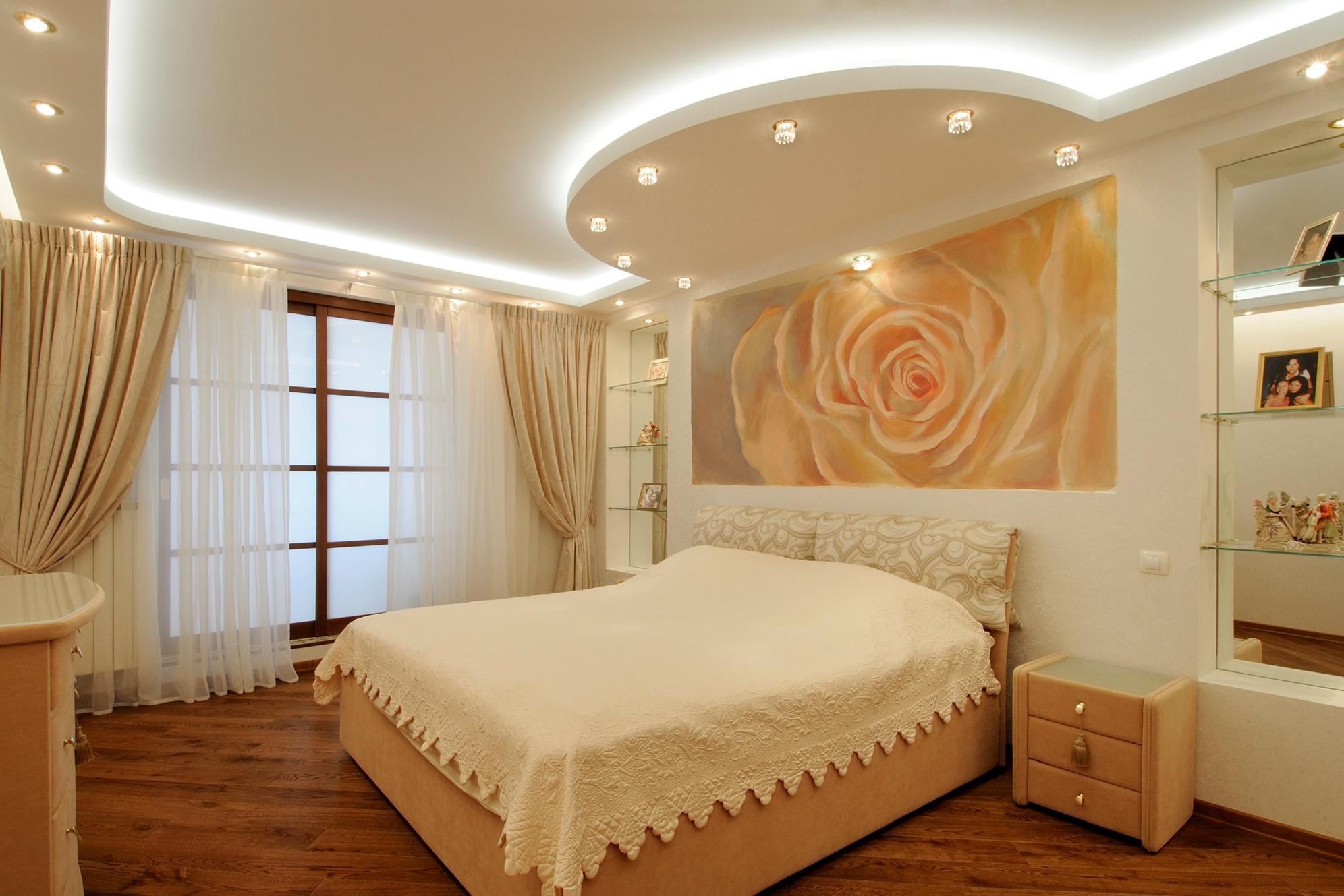 Подвесные потолки дизайн спальни
